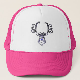 Bluenoser Blue nose Reindeer deer hat pink