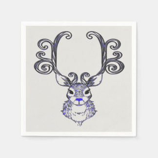 Bluenoser Blue nose Reindeer deer  party napkin Paper Napkins