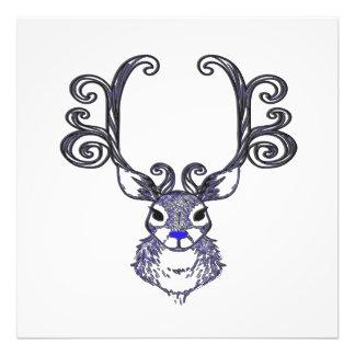 Bluenoser N.S. Blue  Reindeer deer Canvas Print