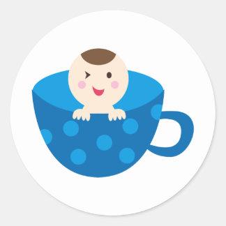BluePABooP1 Round Sticker