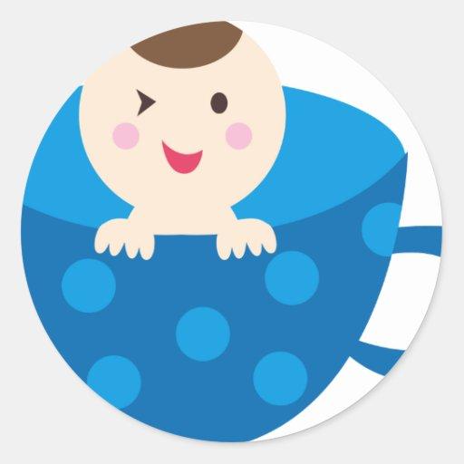 BluePABooP1 Round Stickers