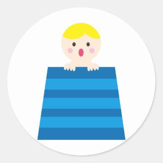 BluePABooP4 Round Sticker