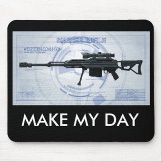 Blueprint 50 cal sniper MAKE MY DAY Mouse Pads