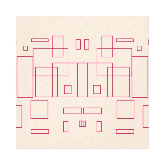 Blueprint Architect Sketch Artwork Canvas Print
