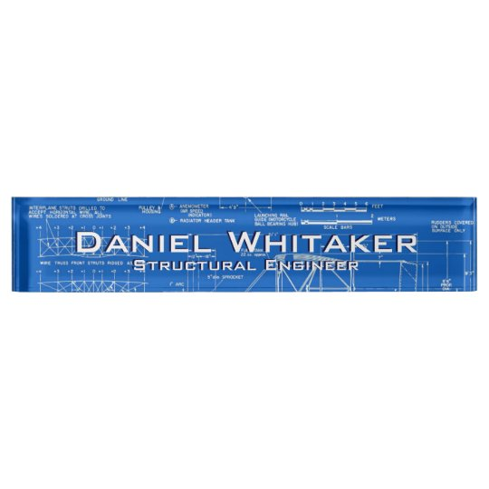Blueprint Background Name Plate