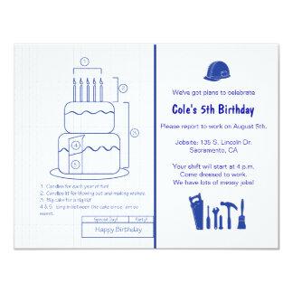 Blueprint Birthday Invitation