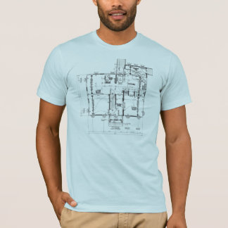 Blueprint blue semi fitted mens tshirt
