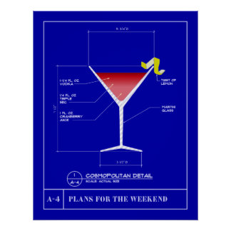 Blueprint for a Cosmopolitan Poster