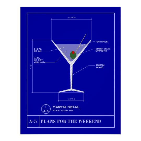 Blueprint for a Martini Poster