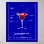 Blueprint for a Tequila Sunrise Print