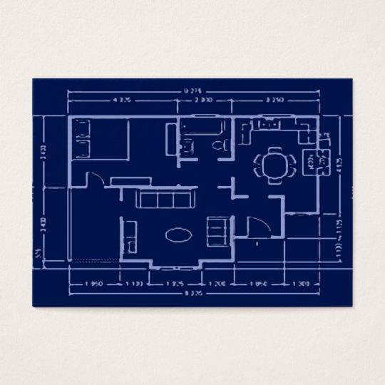 blueprint - house plan business card