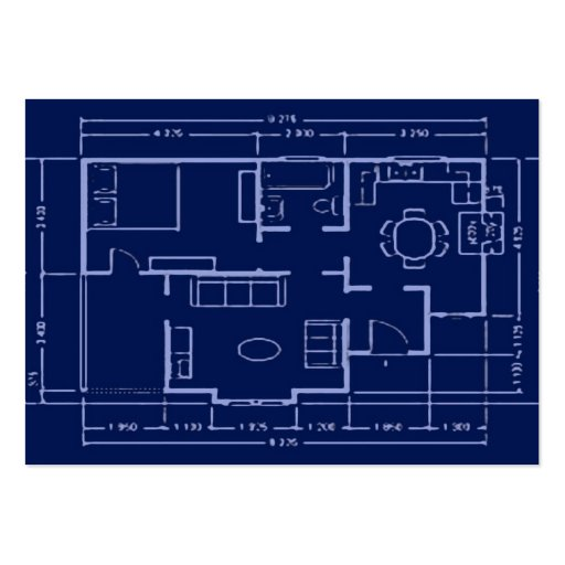 blueprint - house plan pack of chubby business cards