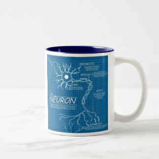 blueprint neuron Two-Tone coffee mug