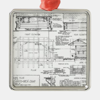 Blueprints Christmas Ornament