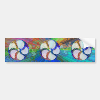 BlueRay Rainbow Floral Chakra Bumper Sticker