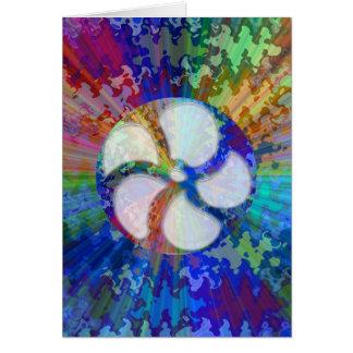 BlueRay Rainbow Floral Chakra Card