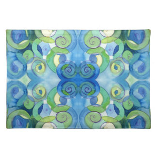 Blues and Greens must always be seen Watercolour Placemat