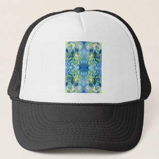 Blues and Greens must always be seen Watercolour Trucker Hat