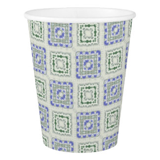 Blues and Greys Paper Cup