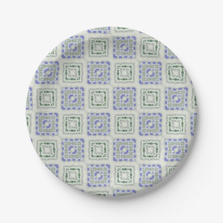 Blues and Greys Paper Plate
