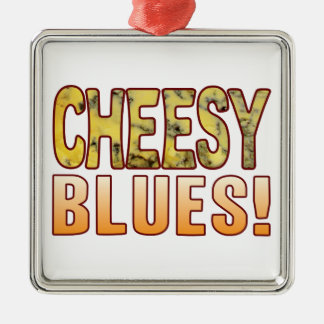 Blues Blue Cheese Silver-Colored Square Decoration