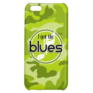 Blues bright green camo camouflage iPhone 5C cover