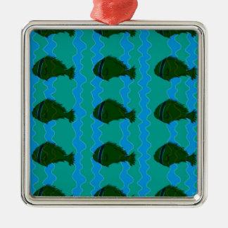 Blues fish christmas ornament