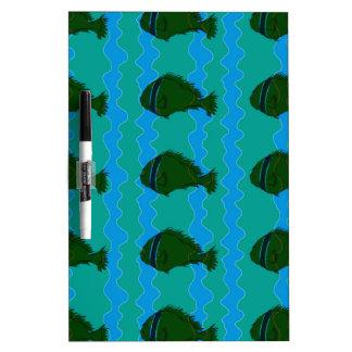 Blues fish dry erase board