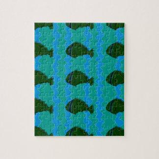 Blues fish puzzle