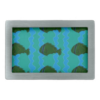 Blues fish rectangular belt buckles