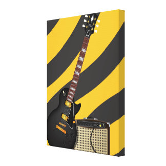 Blues Guitar Gallery Wrapped Canvas