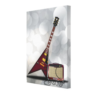 Blues Guitar Stretched Canvas Print