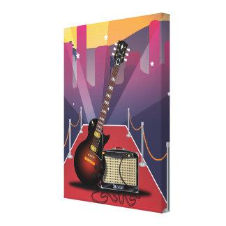 Blues Guitar Canvas Print