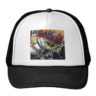 blues guitar man cap