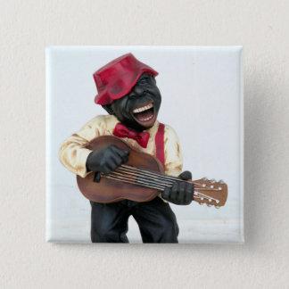 Blues guitar one 15 cm square badge
