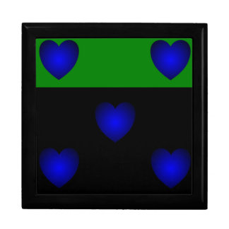 Blues Hearts Trio Large Square Gift Box
