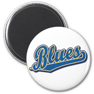 Blues in Blue and Gold Magnet