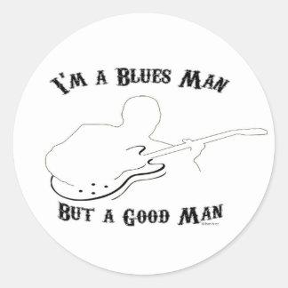 Blues Man, Good Man Round Sticker