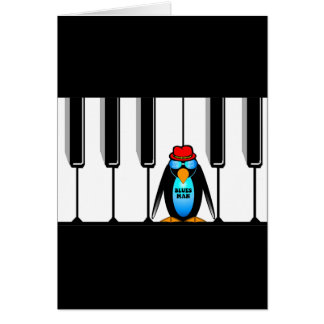blues man piano greeting card
