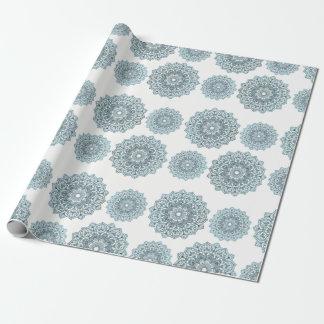 Blues Mandala Wrapping Paper