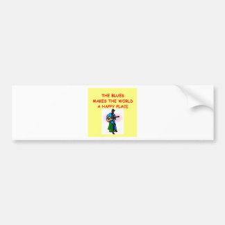 blues music bumper sticker