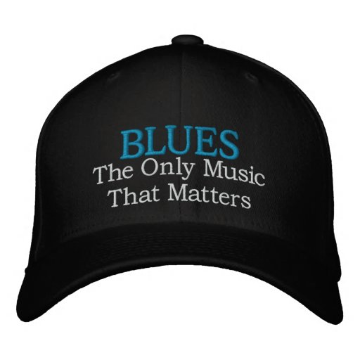 Blues Music Embroidered Cap Embroidered Hats
