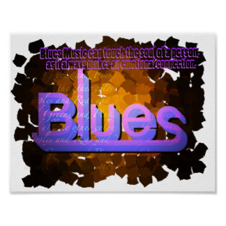 Blues Music Poster