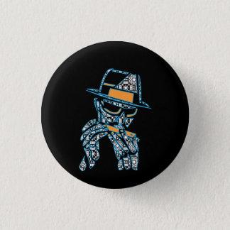 blues musician 3 cm round badge