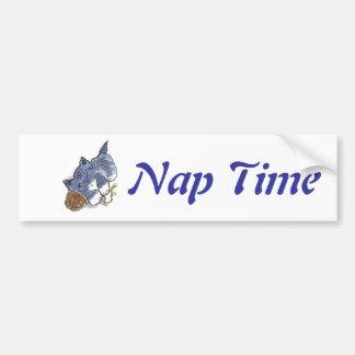 Blue's Nap with Yarn Ball Pillow Bumper Sticker
