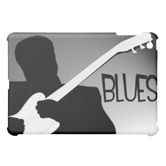 Blues player s silhouette with a spotlight iPad mini cases