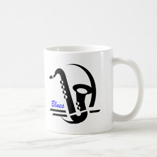 Blues Sax Coffee Mug