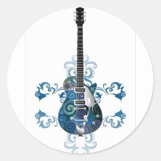 blues round sticker