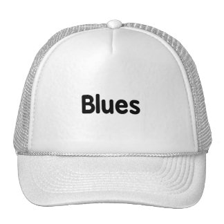 Blues word black text musical.png hat