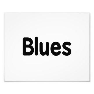 Blues word black text musical png photo print